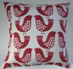"Cushion Cover in Clarke and Clarke iLiv Scandi Bird Red 14"" 16"" 18"" 20"""